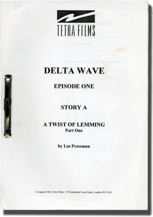 Four scripts from the television show Delta Wave (Four original screenplay for the 1995...