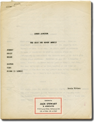 Inner Sanctum: The Dead Are Never Lonely (Original script for the 1950 radio episode). Himan...