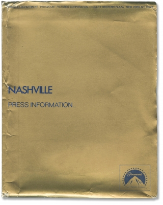 Nashville (Deluxe press kit, with program and 29 original photographs from the 1974 film). Robert...