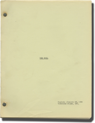 The Duel (Original screenplay for an unproduced film). Melvin Levy, Sidney Harmon, screenwriters