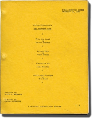 The Paradine Case (Original screenplay for the 1947 film, Final Shooting Script, dated December...