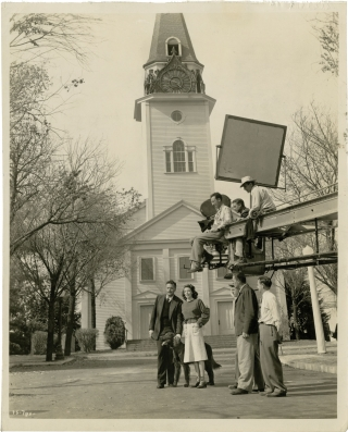 The Stranger (Original photograph from the set of the 1946 film). Orson Welles, Anthony Veiller,...
