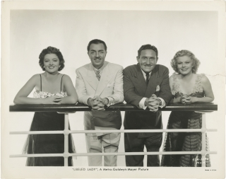 Libeled Lady (Original photograph from the 1936 film). Jack Conway, Wallace Sullivan, Howard...
