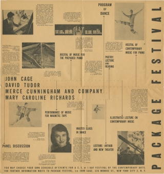 Small archive of posters and a handbill for early performances by John Cage, 1953-1957. John...