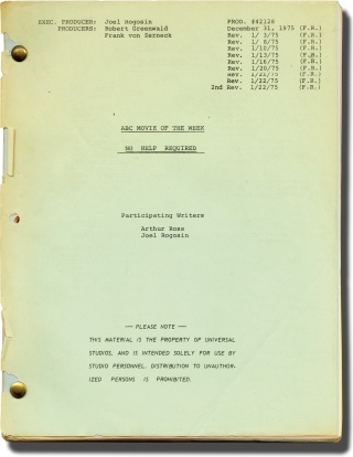 The Desperate Miles [No Help Required] (Original screenplay for the 1975 television movie)....