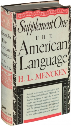 The American Language, Supplements One and Two (Hardcover, two volumes). H. L. Mencken