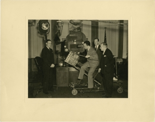 "Photograph of J. Edgar Hoover during filming of ""You Can't Get Away With It"" (Original still..."