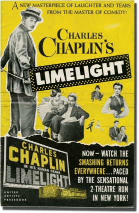 Limelight (Original pressbook for the 1952 film). Charles Chaplin, Claire Bloom Buster Keaton,...