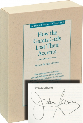 How the Garcia Girls Lost Their Accents (Uncorrected Proof, signed). Julia Alvarez