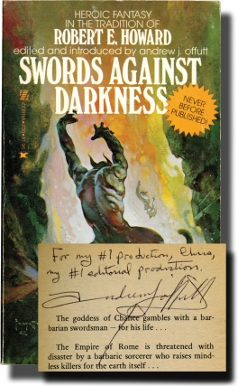 Swords Against Darkness: Volumes I-III (First Edition, three volumes, inscribed by Andrew J....