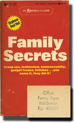 Family Secrets (First Edition, author's personal copy). Andrew J. Offutt, John Cleve