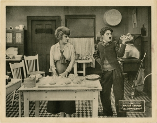 The Pawnshop (Original lobby card for the Republic re-release of the 1916 short film). Charles...