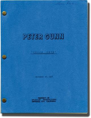 "Archive of scripts for 56 episodes of ""Peter Gunn"""