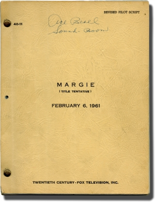 Margie (Original pilot screenplay for the 1961 television series). Jack Sher, Billy Hummert...