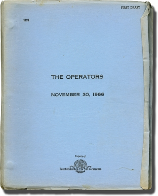 The Operators (Original screenplay for an unproduced film). Norman Bogner, screenwriter
