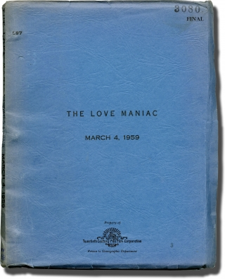 A Private's Affair [The Love Maniac] (Original screenplay for the 1959 film). Raoul Walsh,...