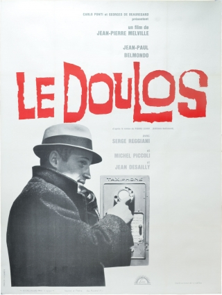 Le doulos (Original French poster for the 1962 film noir). Jean-Pierre Melville, Pierre Lesou,...