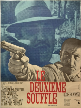 Le deuxieme souffle (Original French poster for the 1966 film noir). Jean-Pierre Melville, Jose...