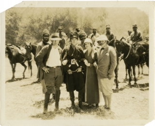 The Eagle (Original photograph from the set of the 1925 film). Rudolph Valentino, Clarence Brown,...