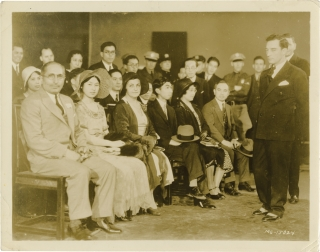 Buster Keaton attends the Imperial Japanese visit to Hollywood (Original photograph). Buster...