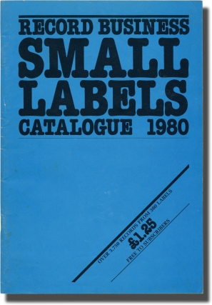Collection of catalogs for small records labels, from 1979-82