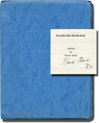 The House that Dripped Blood (Original screenplay for the 1971 film, signed by Robert Bloch)....