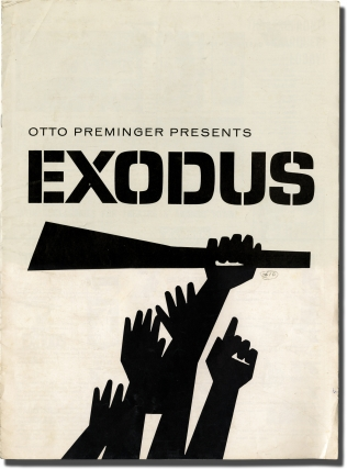Exodus (Original Pressbook for the 1960 film). Otto Preminger, Saul Bass, Dalton Trumbo, Leon Uris, Eva Marie Saint Paul Newman, Sal Mineo, director, designer, screenwriter, novel, starring.