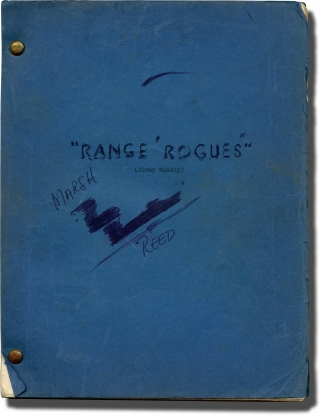 Brand of Fear [Range Rogues] (Original screenplay for the 1949 film, Marshall Reed's copy). Oliver Drake, Basil Dickey, Dub Taylor Jimmy Wakely, Gail Davis, Tom London, director, screenwriter, starring.