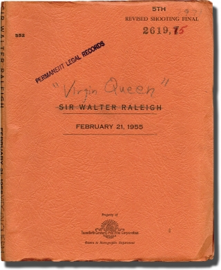 The Virgin Queen [Sir Walter Raleigh] (Original screenplay for the 1955 film). Henry Koster,...
