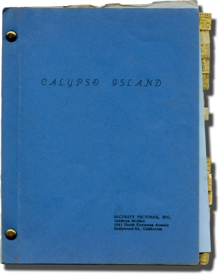 Island Women [Calypso Island] (Original screenplay for the 1958 film, Marie Windsor's copy)....