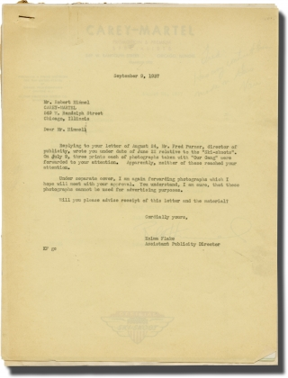 "Archive of letters from the Hal Roach Studios relating to ""Our Gang"" promotions and promotional..."