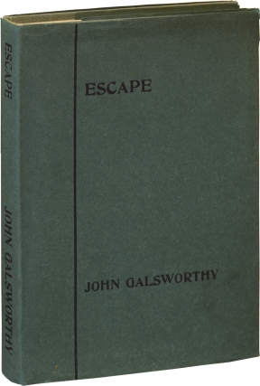 Escape (First UK Edition). John Galsworthy