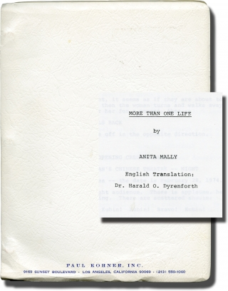 Lang soll er leben [More Than One Life] (Original screenplay for the 1987 film). Wolf Dietrich,...