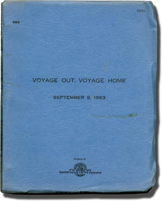 Voyage Out, Voyage Home (Original screenplay for an unproduced film). Irwin Shaw, Sidney Buchman,...