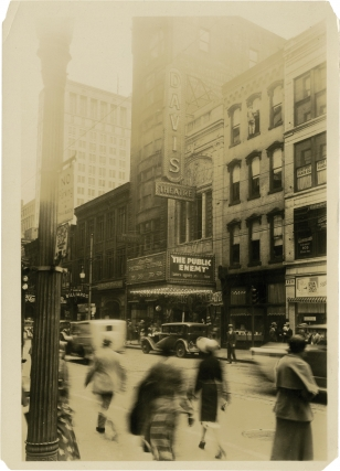 Archive of 14 original photographs of movie theater marquees, circa 1930s