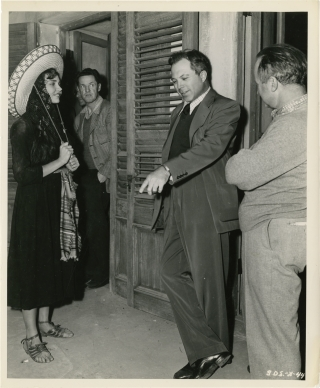Duel in the Sun (Original photograph of Jennifer Jones and director King Vidor on the set of the...