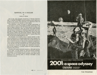 "Archive of production photographs and ephemera from ""2001: A Space Odyssey,"" from the collection of scientific advisor Frederick I. Ordway III"
