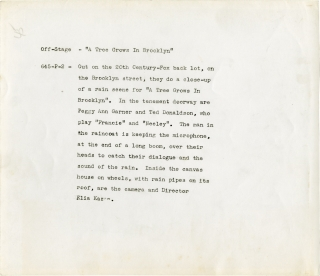 A Tree Grows in Brooklyn (Original photograph from the set of the 1945 film). Elia Kazan, Betty...