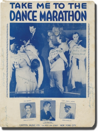 Take Me to the Dance Marathon (Original sheet music for the 1932 song). Andy Devere, Louis Mizrahi