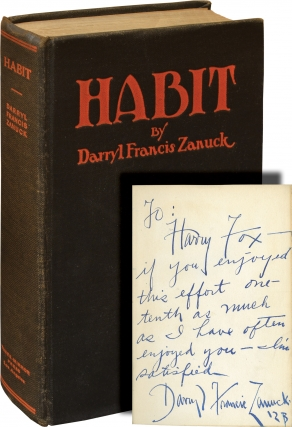 Habit and Other Short Stories (First Edition, inscribed in the year of publication). Darryl...