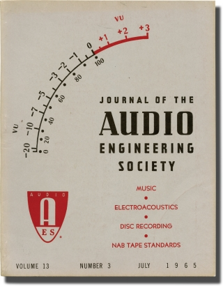 Journal of the Audio Engineering Society, Vol. 13 No. 3, July 1965. Robert Moog, contributor