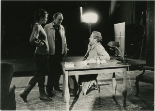 After the Rehearsal (Two original photographs from the set of the 1984 film). Ingmar Bergman,...
