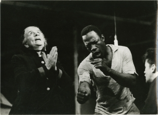 The Connection (Three photographs from the 1959 play). Jack Gelber, Judith Malina, Julian Beck,...