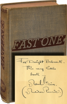 Fast One (First Edition, inscribed to fellow hard-boiled author Dwight V. Babcock). Paul Cain.