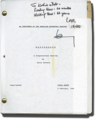 Archive of Scripts and Letters from Larry Gelbart to Robert Parrish