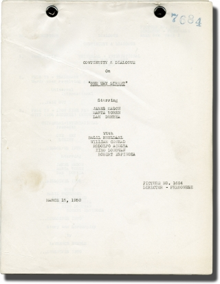 One Way Street (Post-production scripts for the 1950 film). Hugo Fregonese, Lawrence Kimble,...