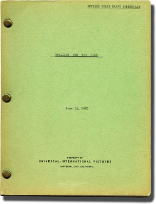 Twilight for the Gods (Original screenplay for the 1958 film). Joseph Pevney, Ernest K. Gann, Cyd...