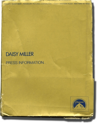 Daisy Miller (Original press kit for the 1974 film). Peter Bogdanovich, Henry James, Frederic...