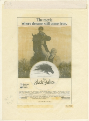 The Black Stallion (Original advertising mockup from the 1978 film). Carroll Ballard, Jeanne...