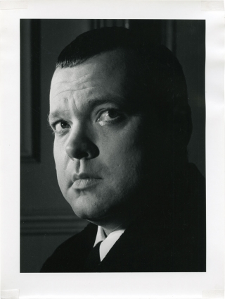 Photographic portrait of Orson Welles by Jane Bown